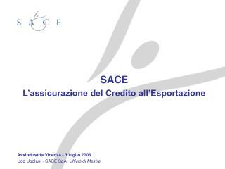 SACE L'assicurazione del Credito all'Esportazione Assindustria Vicenza - 3 luglio 2006