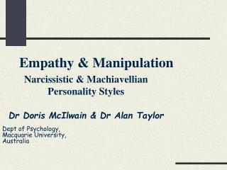 Empathy  Manipulation