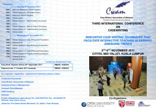 THIRD INTERNATIONAL CONFERENCE ON CASEWRITING