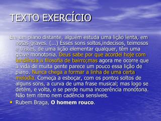 TEXTO EXERCÍCIO