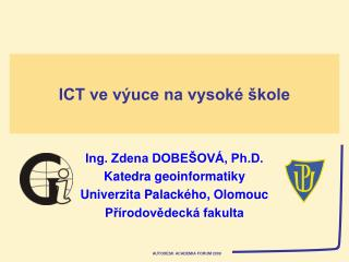 ICT ve výuce na vysoké škole
