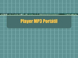 Player MP3 Port�til