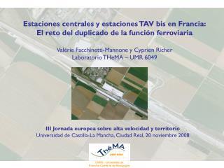 Estaciones centrales y estaciones TAV bis en Francia: