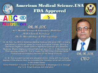 American Medical Science.USA FDA Approved