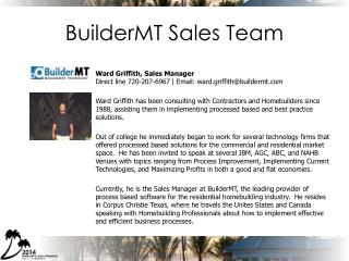 BuilderMT  Sales Team