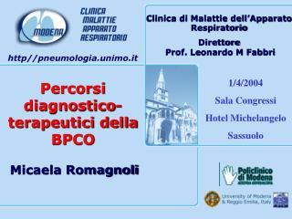 Percorsi diagnostico-terapeutici della BPCO