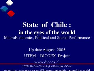 State  of  Chile : in the eyes of the world