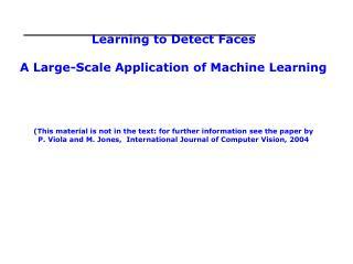 Viola-Jones Face Detection Algorithm