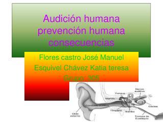Audición humana  prevención humana consecuencias