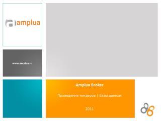 Amplua Broker Проведение тендеров  |  Базы данных 201 1