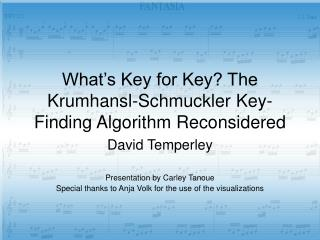 What�s Key for Key? The Krumhansl-Schmuckler Key-Finding Algorithm Reconsidered