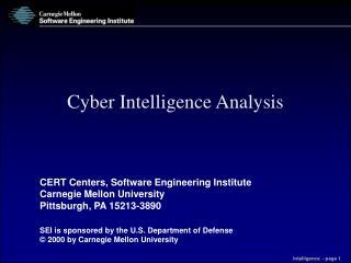Cyber Intelligence Analysis