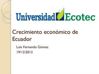 Crecimiento económico de Ecuador