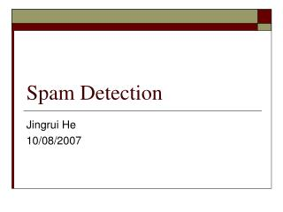Spam Detection