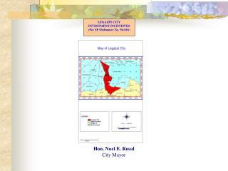 LEGAZPI CITY INVESTMENT INCENTIVES (Per SP Ordinance No. 96-016 )