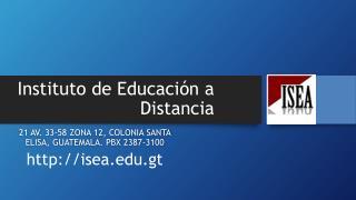 Instituto de Educación a Distancia