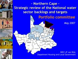 - Northern Cape -  Strategic review of the National water sector backlogs and targets