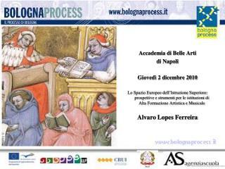 Accademia di Belle Arti di Napoli Giovedì 2 dicembre 2010