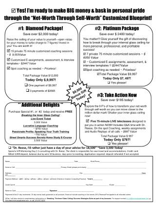 #1:  Diamond Package! Save over $2,000 today!