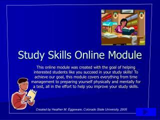 Study Skills Online Module