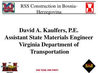 RSS Construction in Bosnia-Herzegovina