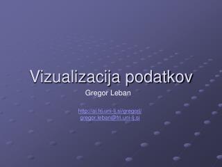 Vizualizacija podatkov