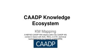 CAADP Knowledge Ecosystem