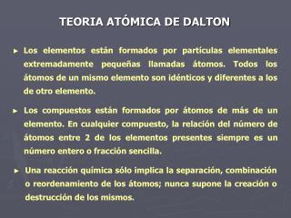 TEORIA AT�MICA DE DALTON