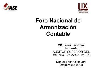 Foro Nacional de Armonizaci n Contable