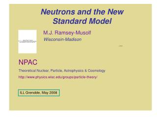 Neutrons and the New Standard Model