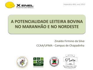 Zinaldo  Firmino da Silva CCAA/UFMA - Campus de Chapadinha