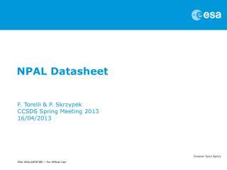 NPAL Datasheet