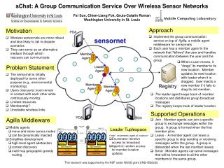 sChat: A Group Communication Service Over Wireless Sensor Networks