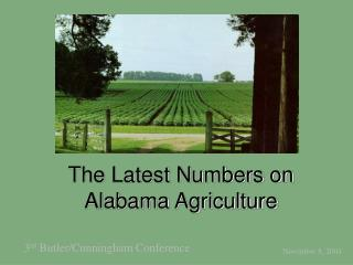 The Latest Numbers on Alabama Agriculture