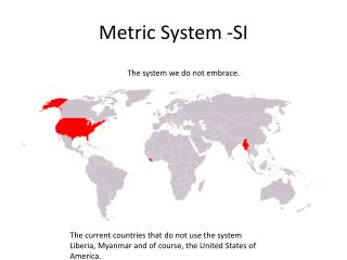 Metric System -SI