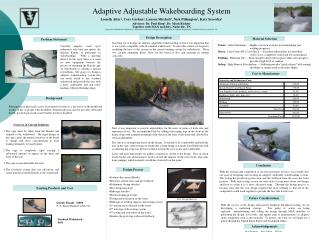 Adaptive Adjustable Wakeboarding System