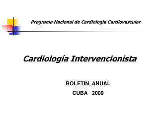 BOLETIN  ANUAL CUBA   2009