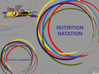 NUTRITION NATATION