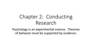 Chapter 2:  Conducting Research