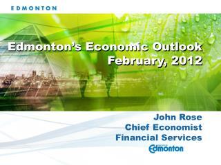 John Rose Chief Economist Financial Services