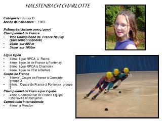 HALSTENBACH CHARLOTTE