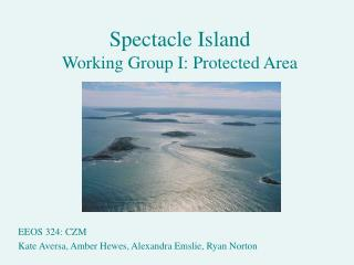 Spectacle Island Working Group I: Protected Area