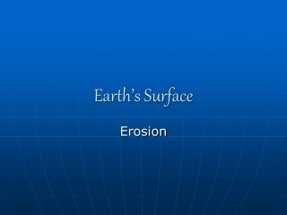 Earth s Surface