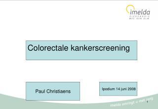 Colorectale kankerscreening