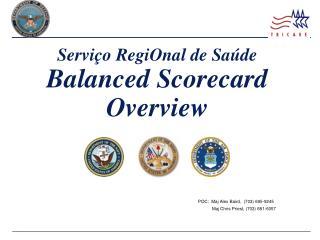 Serviço RegiOnal de Saúde Balanced Scorecard Overview