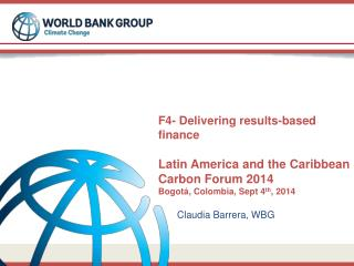 Claudia Barrera, WBG