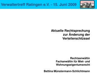 Verwaltertreff Ratingen e.V. - 15. Juni 2009