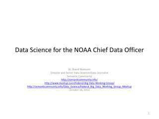 Data Science for the NOAA Chief Data Officer