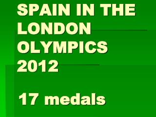 SPAIN IN THE LONDON OLYMPICS 2012