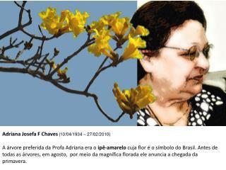 Adriana Josefa F Chaves ( 10/04/1934 – 27/02/2010 )